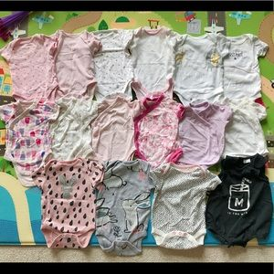 Baby Girl Short-Sleeve Bodysuit Bundle 3-9 months